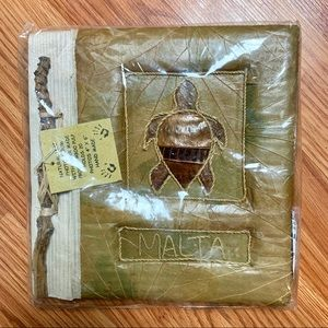 NWT Malta Handmade Natural Photo Album
